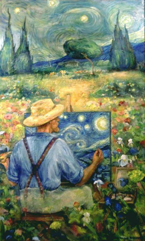 'Vincent and the starry night', oil on canvas, 36'' x 90''